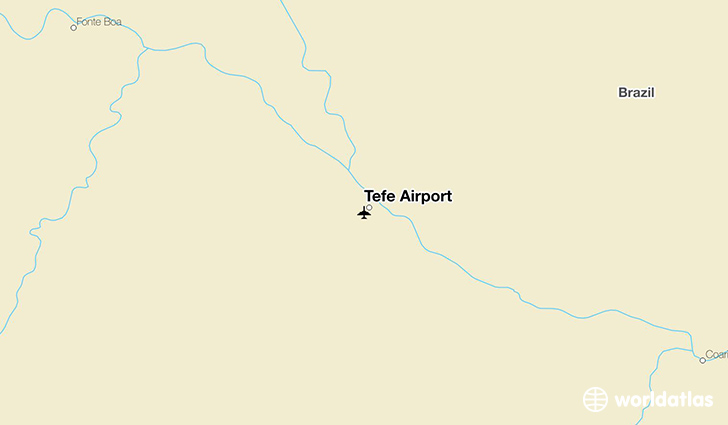 Tefé Airport location on a map