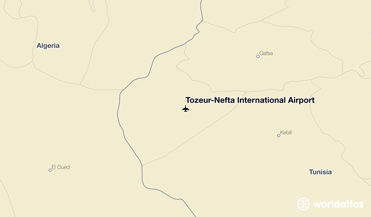 Tozeur–Nefta International Airport location on a map