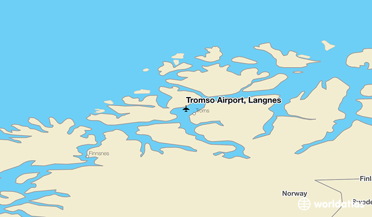 Tromsø Airport, Langnes location on a map
