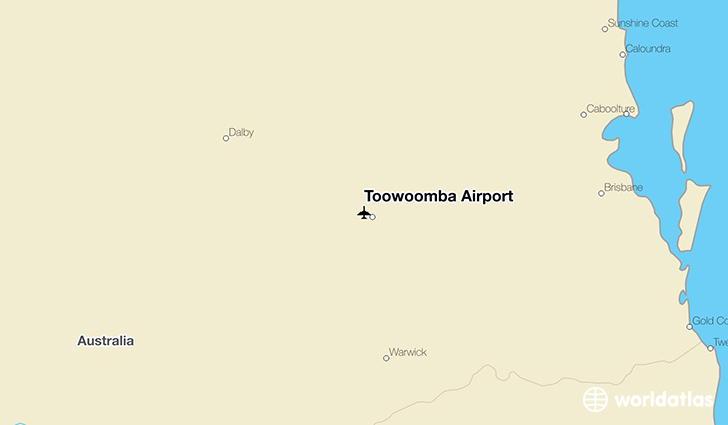 Toowoomba Airport location on a map