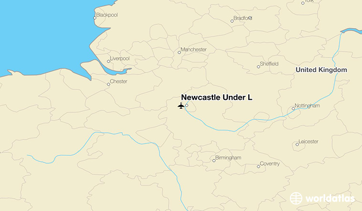 Newcastle Under L location on a map