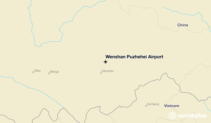 Wenshan Puzhehei Airport location on a map