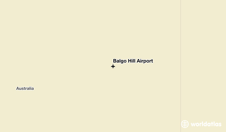 Balgo Hill Airport location on a map