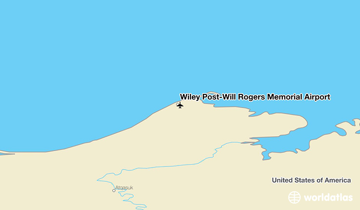 Wiley Post-Will Rogers Memorial Airport location on a map