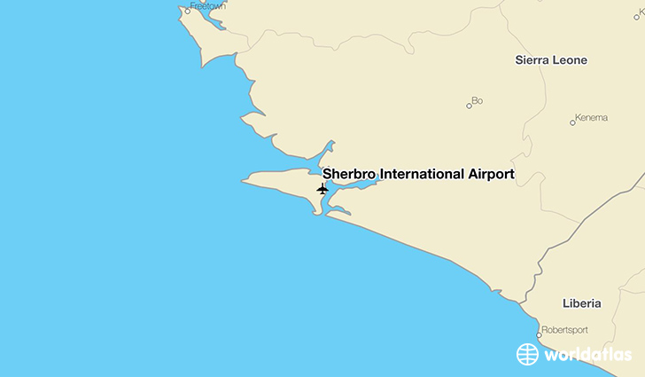 Sherbro International Airport location on a map