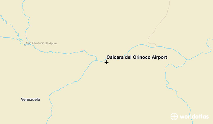 Caicara del Orinoco Airport location on a map