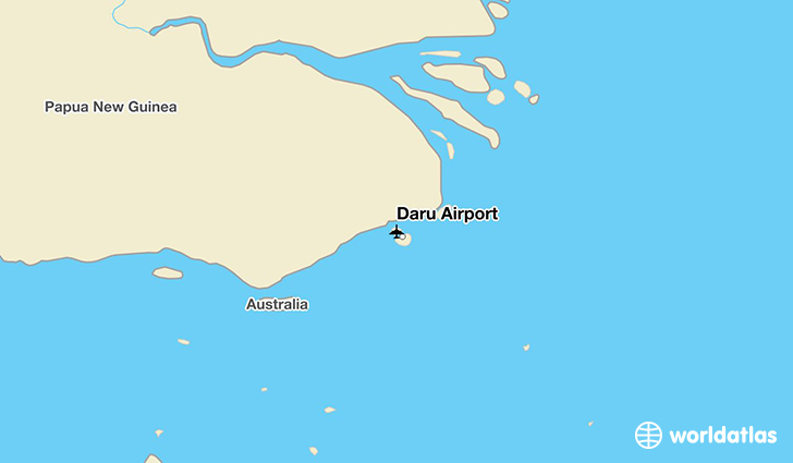 Daru Airport location on a map