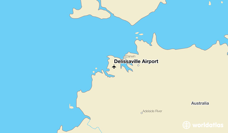 Delissaville Airport location on a map