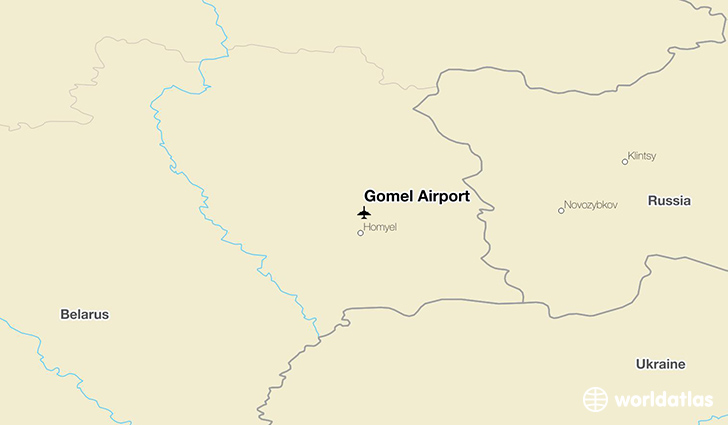 Gomel Airport location on a map