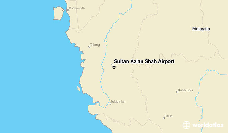 Sultan Azlan Shah Airport location on a map