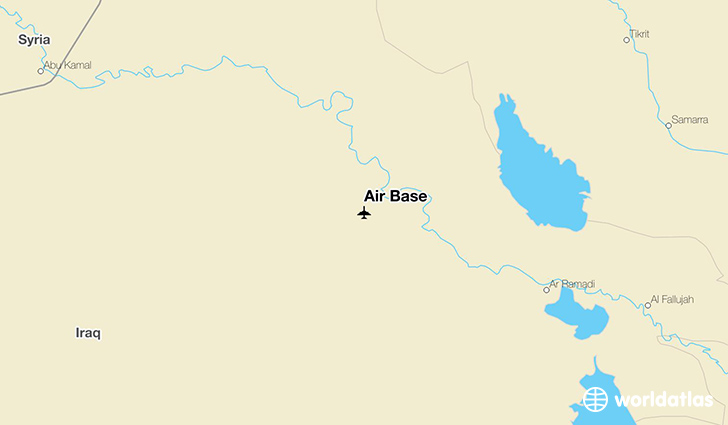 Air Base location on a map
