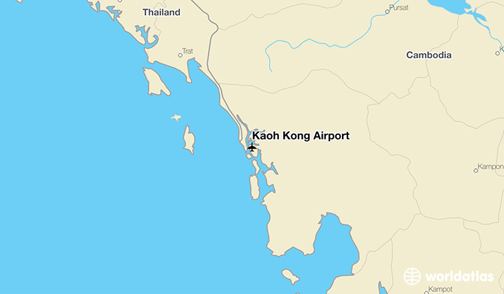 Kaoh Kong Airport location on a map