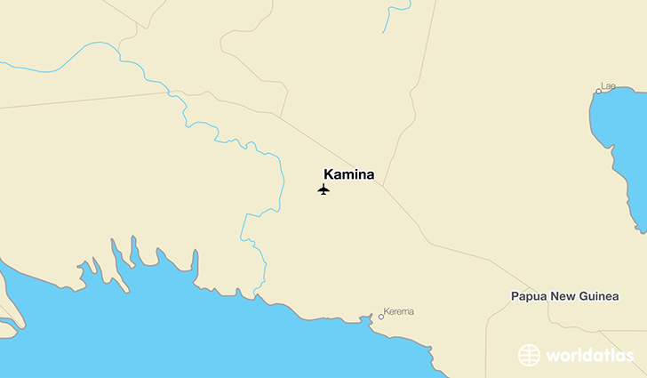 Kamina location on a map