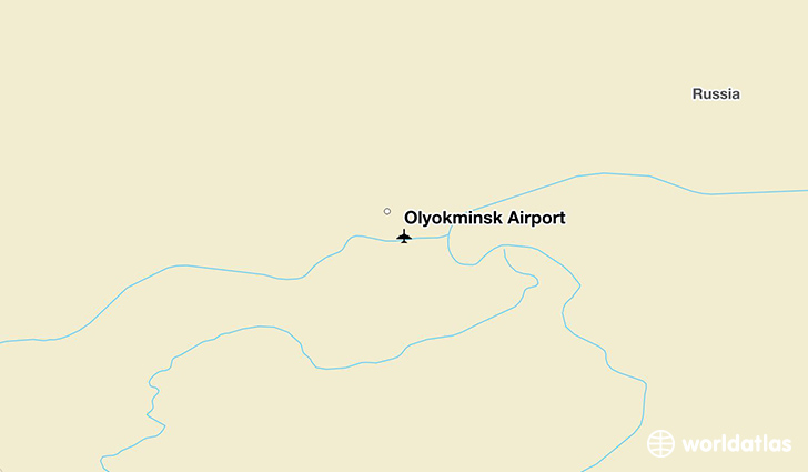 Olyokminsk Airport location on a map