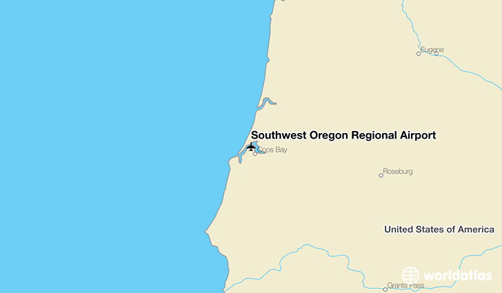 Southwest Oregon Regional Airport location on a map