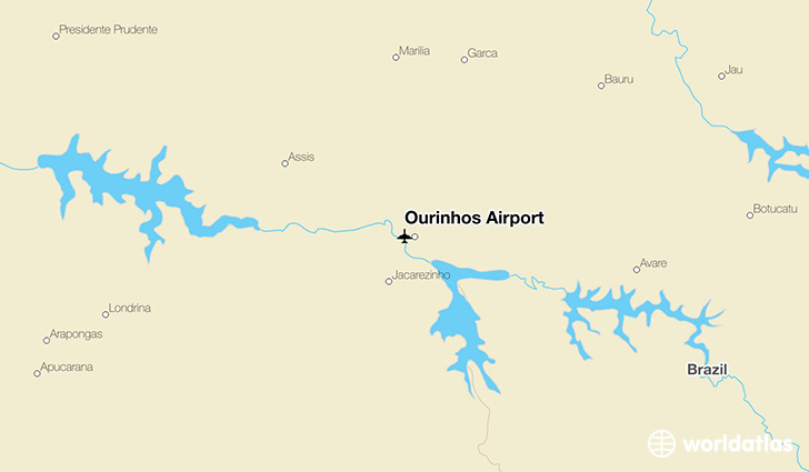 Ourinhos Airport location on a map
