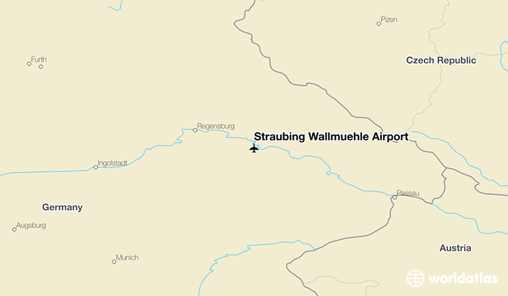 Straubing Wallmühle Airport location on a map