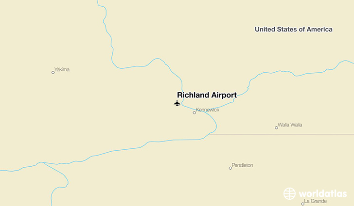 Richland Airport location on a map