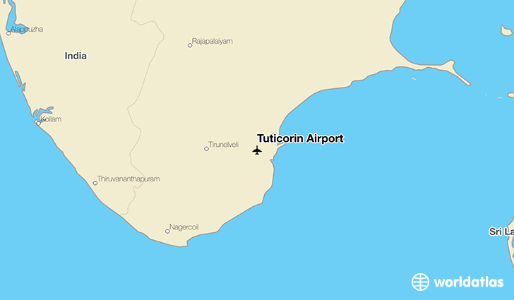 Tuticorin Airport location on a map