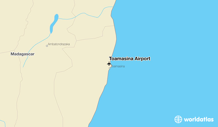 Toamasina Airport location on a map