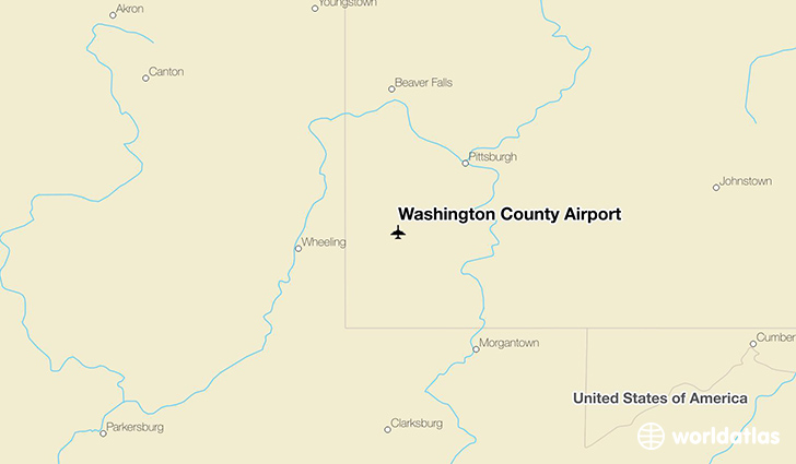 Washington County Airport location on a map