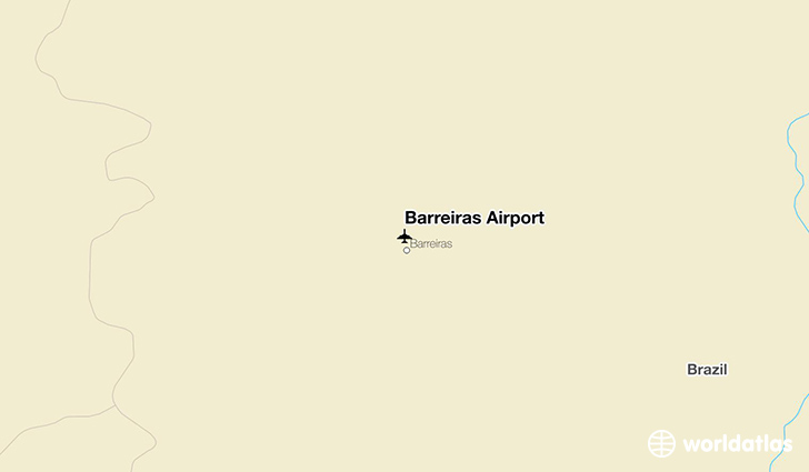Barreiras Airport location on a map