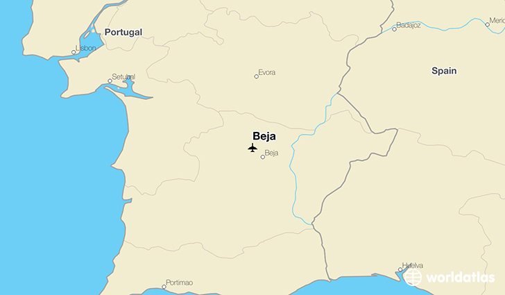 Beja location on a map