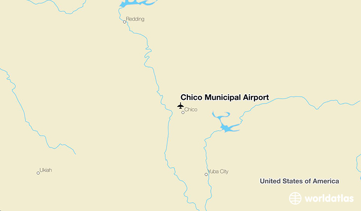Chico Municipal Airport location on a map