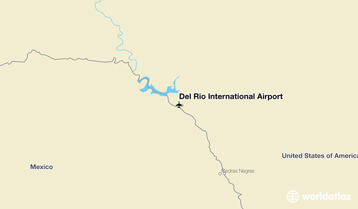 Del Rio International Airport location on a map