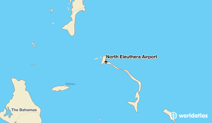 North Eleuthera Airport location on a map