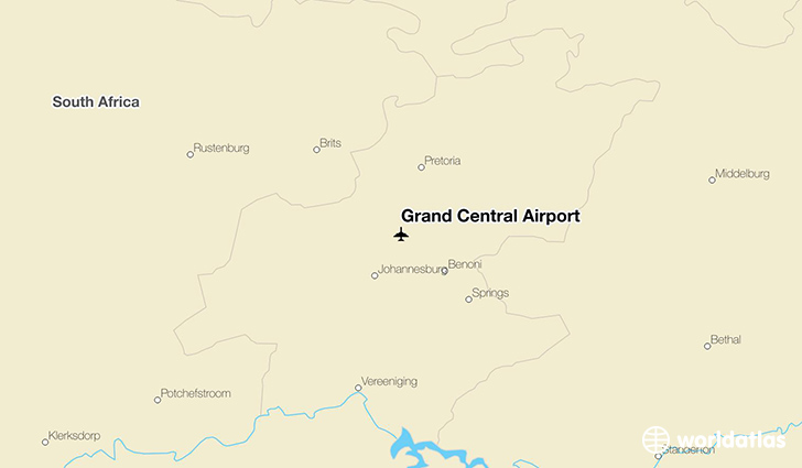 Grand Central Airport location on a map