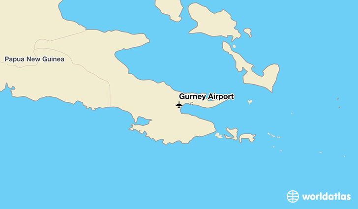 Gurney Airport location on a map