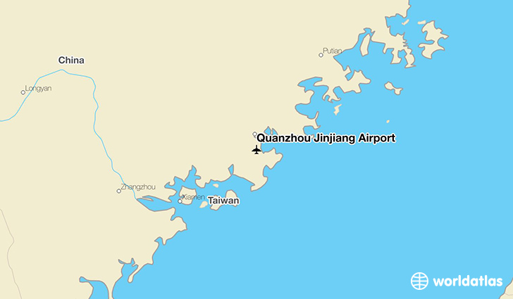 Quanzhou Jinjiang Airport location on a map