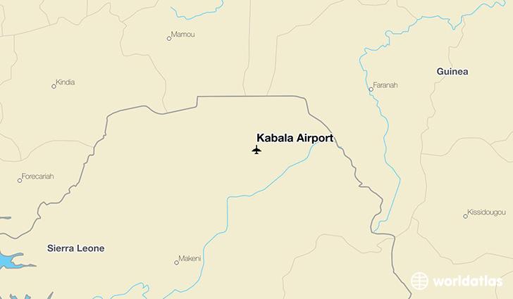 Kabala Airport location on a map