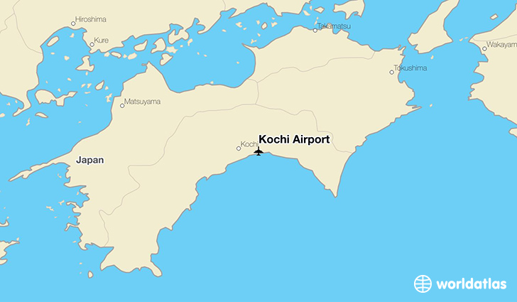 Kochi Airport location on a map