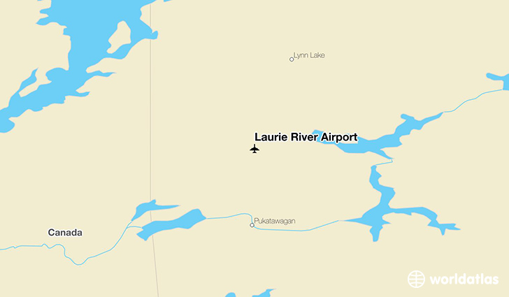 Laurie River Airport location on a map