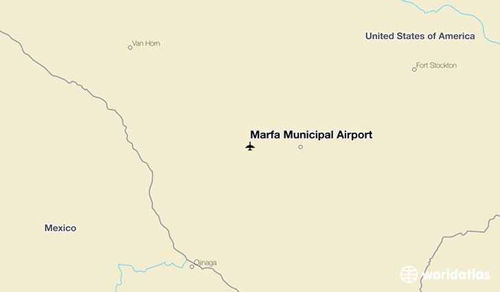 Marfa Municipal Airport location on a map