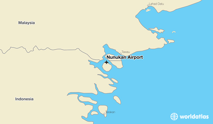 Nunukan Airport location on a map