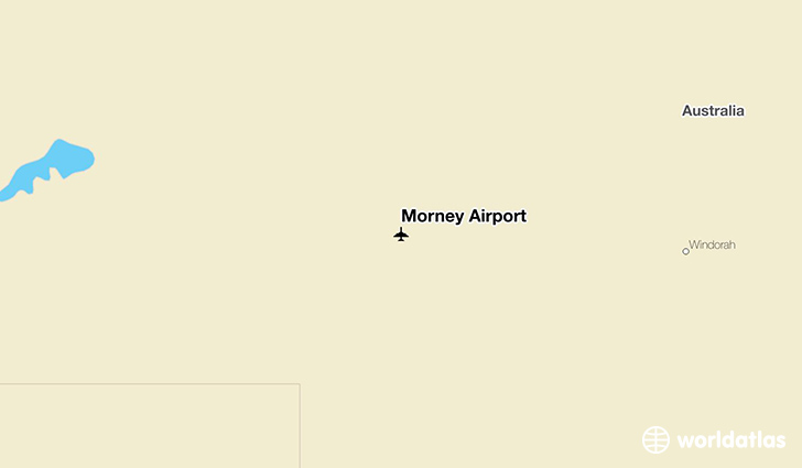 Morney Airport location on a map