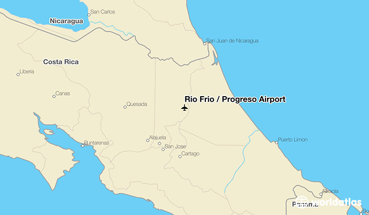 Rio Frio / Progreso Airport location on a map