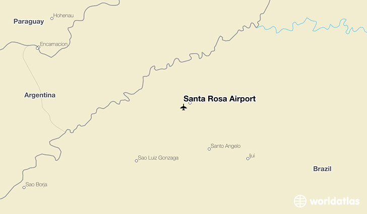 Santa Rosa Airport location on a map