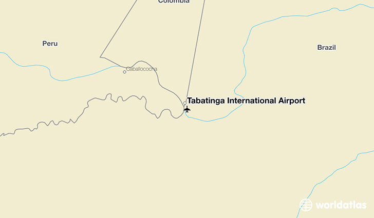 Tabatinga International Airport location on a map