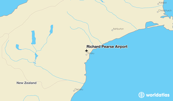 Richard Pearse Airport location on a map