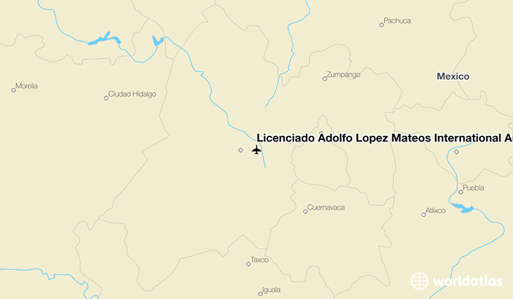 Licenciado Adolfo López Mateos International Airport location on a map