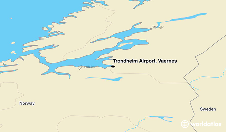 Trondheim Airport, Værnes location on a map