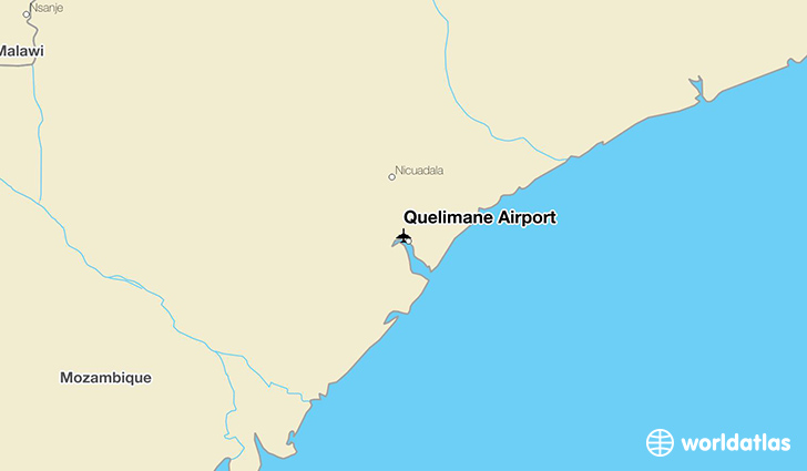 Quelimane Airport location on a map