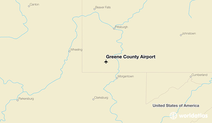 Greene County Airport location on a map