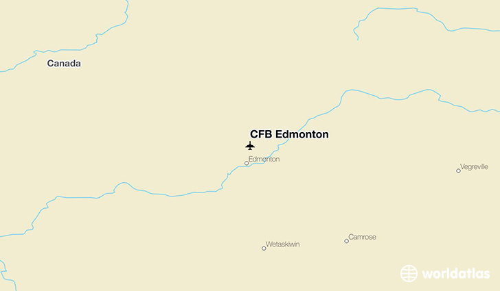 CFB Edmonton location on a map