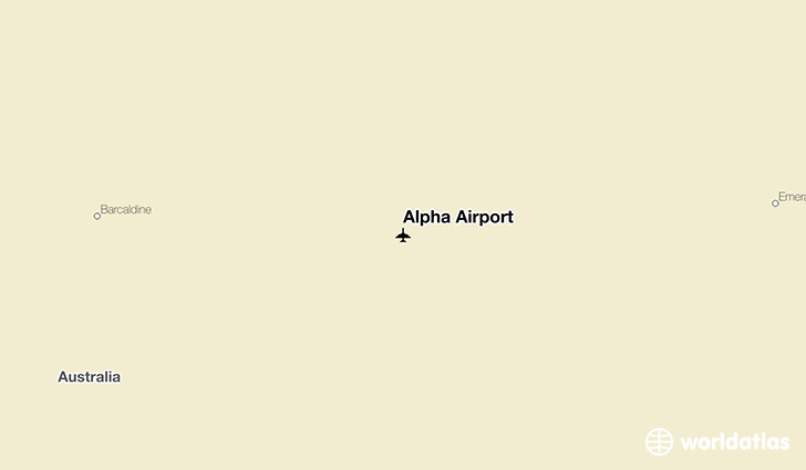 Alpha Airport location on a map