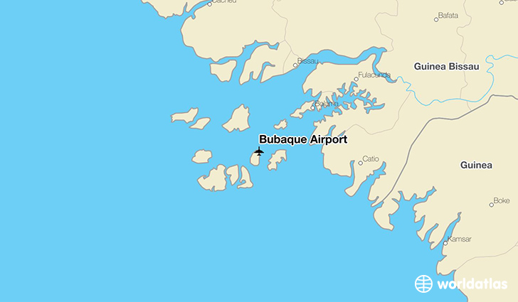 Bubaque Airport location on a map